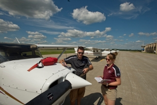 Flight Instructor with student